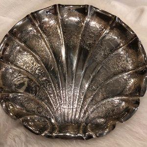 Beautiful silver scallop tray